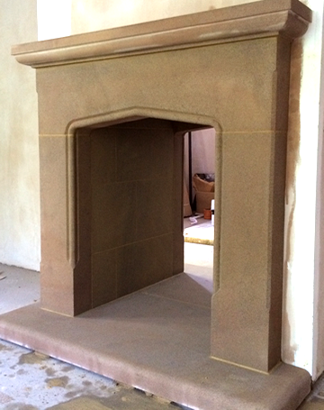 handmade stone fireplaces